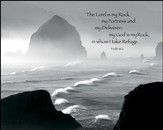 The Lord is My Rock and My Fortress Mounted Print