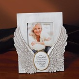 Ever Cherished In Our Hearts, Enfolded Now In Angel Wings Photo Frame