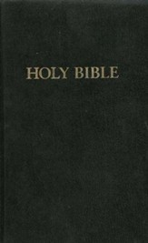KJV Pew Bible, hardcover, black