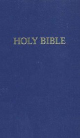 KJV Pew Bible, hardcover blue