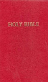 KJV Pew Bible, hardcover red