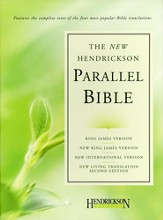 Hendrickson Parallel Bible, Bonded leather, black KJV, NIV, NKJV, & NLT