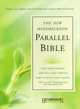 Hendrickson Parallel Bible, Bonded leather, burgundy KJV, NIV, NKJV, & NLT