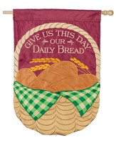 Give Us This Day Our Daily Bread Flag, Large