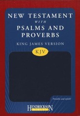 KJV New Testament with Psalms and Proverbs, imitation leather, blue - Slightly Imperfect