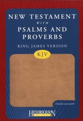 KJV New Testament with Psalms and Proverbs, imitation leather, tan - Slightly Imperfect