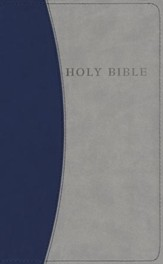KJV Personal Size Giant Print Reference Bible, imitation leather, blue/gray - Slightly Imperfect