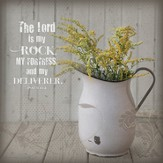 The Lord Is My Rock Plaque, Medium