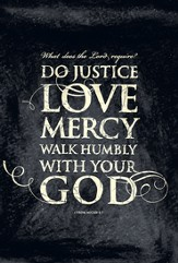Do Justice, Love Mercy Plaque, Large