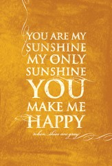 You Are My Sunshine Plaque, Large