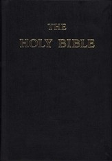 Douay-Rheims Bible Genuine Black Leather flexible cover