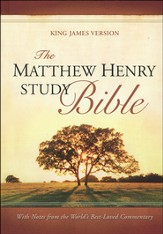The Matthew Henry Bible, hardcover  - Slightly Imperfect