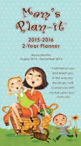 Mom's Plan-It 2015 Two Year Calendar with Scripture