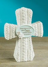 Days Interwoven With Prayer Tabletop Cross