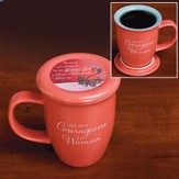 Courageous Woman Coaster Mug