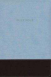 KJV Large Print Thinline Reference Bible Flexisoft chocolate/blue