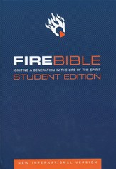 NIV Fire Bible Student Edition Hardcover 1984