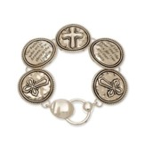Lord's Prayer-Magnet Bracelet, Silver