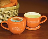 With A Grateful Heart Soup Mug