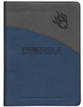 Fire Bible Student Edition, Imitation Leather blue/gray - Slightly Imperfect