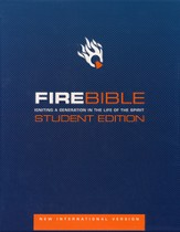 NIV Fire Bible Student Edition Bonded leather black 1984