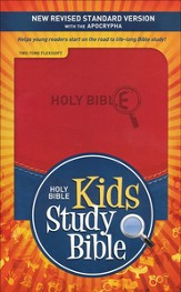NRSV Kids Study Bible with the Apocrypha Flexisoft brick red/blue - Imperfectly Imprinted Bibles