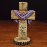 He is Risen Cross Figurine