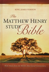 KJV The Matthew Henry Bible, hardcover Thumb-Indexed