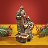 Holy Family Figurine, Bronze Finish