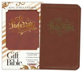 KJV Gift Bible, Flexisoft leather, Espresso