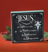 Jesus Is the Light That Guides LED Plaque