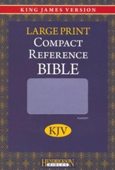KJV Large Print Compact Reference Bible, Flexisoft leather, Lilac