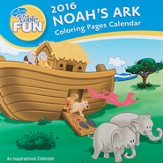 2016 Noah's Ark Bible Fun Wall Calendar