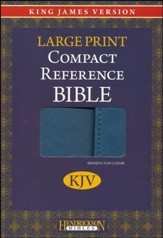 KJV Large Print Compact Reference Bible with Flap Flexisoft Blue - Slightly Imperfect