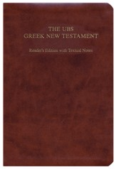 The UBS Greek New Testament: Reader's Edition with Textual Notes, Flexisoft leather, brown