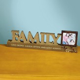 Family Plaque with Photo Frame Holder