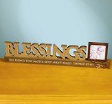 Blessings Plaque with Photo Frame Holder