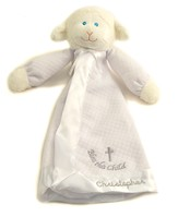 Personalized, Christening Lamb Blanket, White