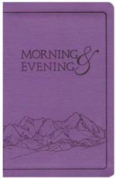 Morning and Evening, KJV Edition, soft leather look   - Lilac