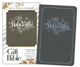 KJV Gift Bible, Flexisoft leather, Gray