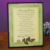 Amazing Woman--Inspirational Plaque