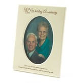 50th Wedding Anniversary Photo Frame, 5x7