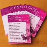 You Are a Courageous Woman Prayer Cards, Pack of 25