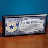 Police Officer Mini Plaque