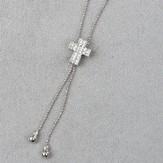 Cross Slide Necklace, Crystal Stones