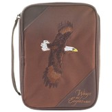 Wings As Eagles Bible Cover, Brown, Thinline