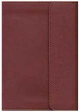 KJV New Testament with Psalms and Proverbs, imitation leather, expresso with flap - Slightly Imperfect
