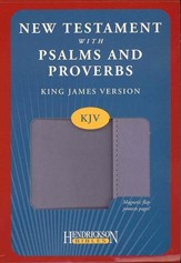 KJV New Testament with Pslams and Proverbs, imitation leather, lilac with flap closure