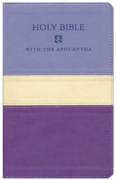 NRSV Deluxe Gift Bible with the Apocrypha--soft leather-look, violet/lilac tri-color