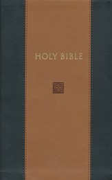 KJV Devotional Bible - Flexisoft Leather, Black & Tan  - Slightly Imperfect